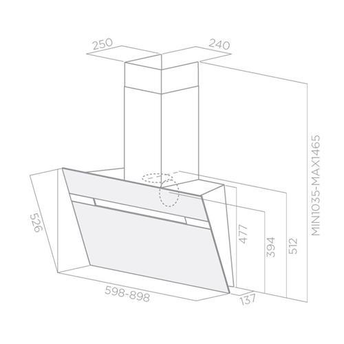 prf0110514b hotte elica stripe ix a 60 elica hottes. Black Bedroom Furniture Sets. Home Design Ideas